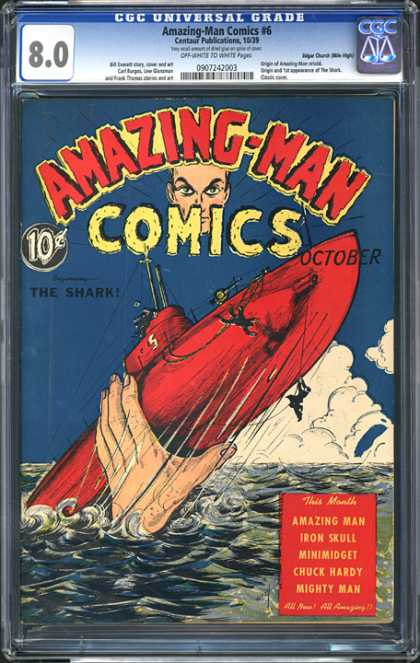 CGC Graded Comics - Amazing-Man Comics #6 (CGC)