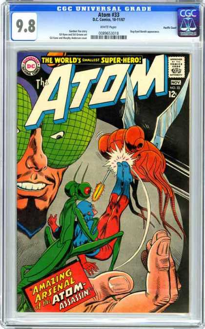 CGC Graded Comics - Atom #33 (CGC) - Amazing Arsenal Of The Atom Assasin - Bugs - The Worlds Smallest Super-hero - Hand - Kick