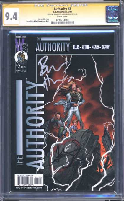 CGC Graded Comics - Authority #2 (CGC) - Ellis-hitch-neary-depuy - I Fight Authority Authority Always Wins - Stormy Ideas - Electrifying - Charged Power