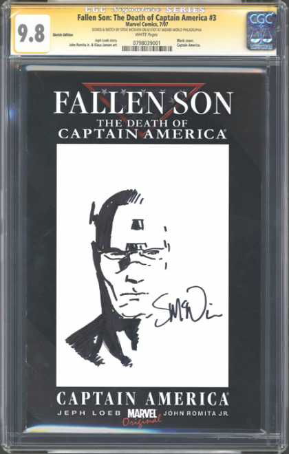 CGC Graded Comics - Fallen Son: The Death of Captain America #3 (CGC) - Captain America - Cgc Hologram - Autographed - Fallen Son - Death