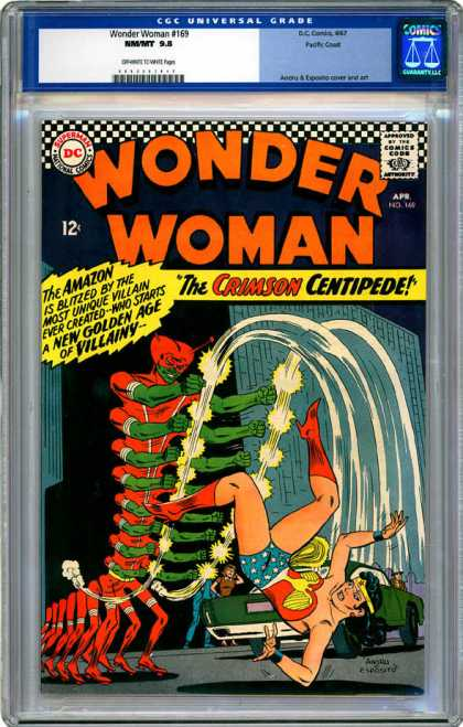 CGC Graded Comics - Wonder Woman #169 (CGC) - Dc - Wonder Woman - 12 Cents - The Crimson Centipede - Golden Age Of Villainy