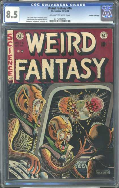 CGC Graded Comics - Weird Fantasy #16 (CGC) - Science - Galaxies - Attacked - Hit - Imagination