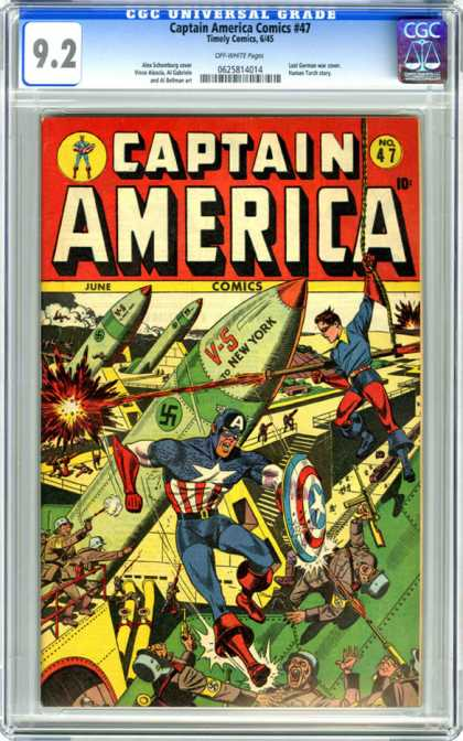 CGC Graded Comics - Captain America Comics #47 (CGC)