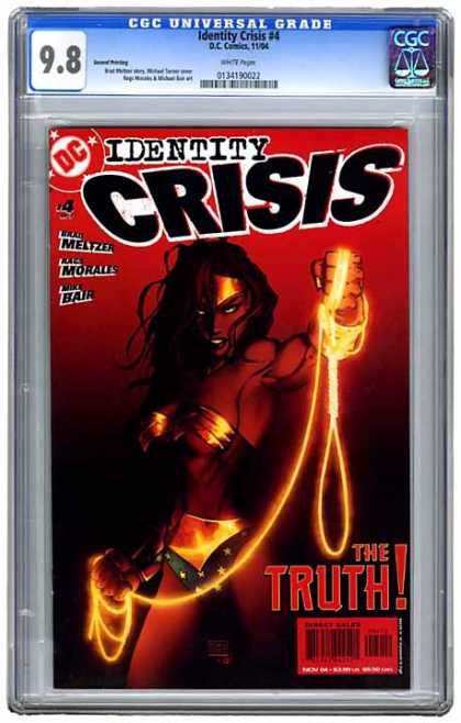 CGC Graded Comics - Identity Crisis #4 (CGC) - 98 - Identity Crisis 4 - Dc Comics - The Truth - White Pages