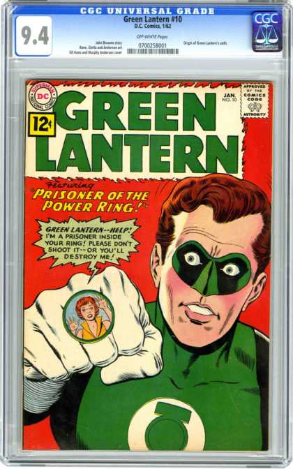 CGC Graded Comics - Green Lantern #10 (CGC) - Green Lantern - Dc Comics - Approved By The Comics Code Authority - Prisoner - Power King
