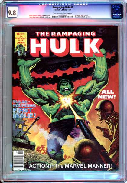 CGC Graded Comics - Rampaging Hulk #1 (CGC)