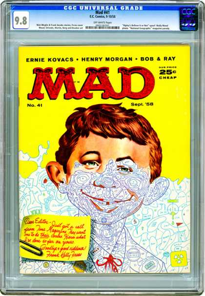 CGC Graded Comics - Mad #41 (CGC) - Mad - Ernie Kovacs - Henry Morgan - Bob U0026 Ray - Editor