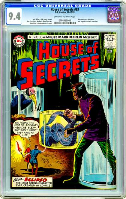 CGC Graded Comics - House of Secrets #63 (CGC)