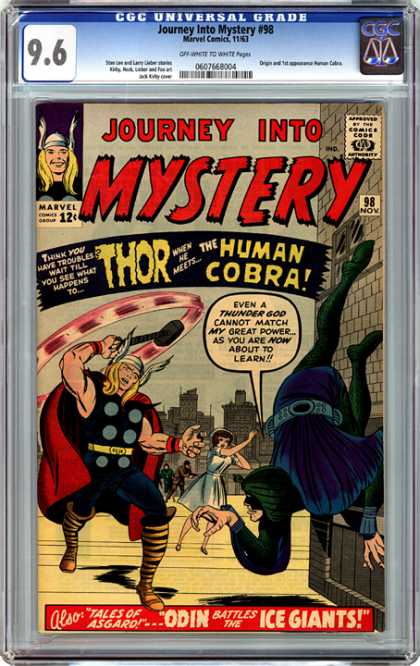 CGC Graded Comics - Journey Into Mystery #98 (CGC) - Thor - Human Cobra - November - No 98 - Tales Of Asgard