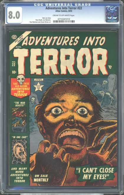 CGC Graded Comics - Adventures Into Terror #22 (CGC)