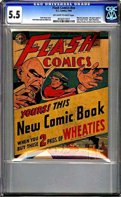 CGC Graded Comics - Flash Comics #nn (CGC) - 55 - Wheaties - New - But - Scales