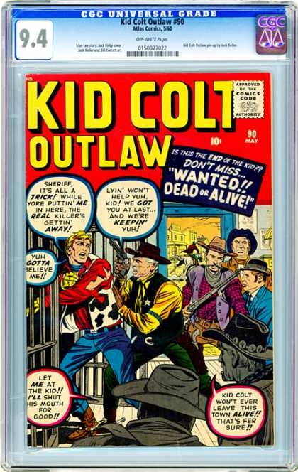 CGC Graded Comics - Kid Colt Outlaw #90 (CGC)