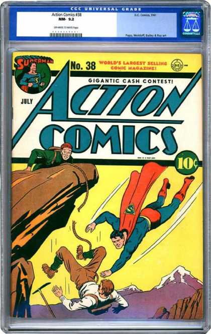 CGC Graded Comics - Action Comics #38 (CGC) - Action Comics - July - Gigantic - Cash Contest - Yellow