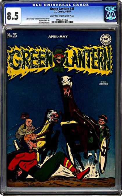 CGC Graded Comics - Green Lantern #25 (CGC) - Dc Comics - Silver Age - Green Lantern - Alan Scott - Horses
