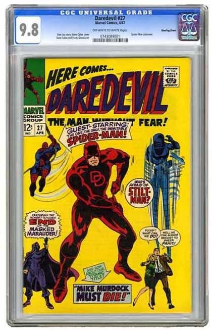 CGC Graded Comics - Daredevil #27 (CGC) - Blind - Masked - Superhero - Spider-man - Pals