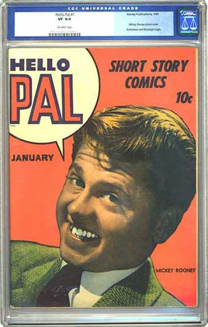 CGC Graded Comics - Hello Pal #1 (CGC) - Mickey Rooney - Hello Pal - Short Story Comics - January - Green Suit