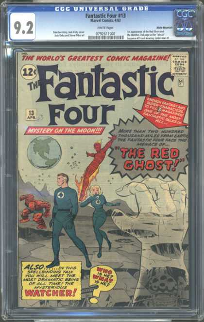 CGC Graded Comics - Fantastic Four #13 (CGC) - The Red Ghost - Mystery On The Moon - 13 - Human Torch - Thing