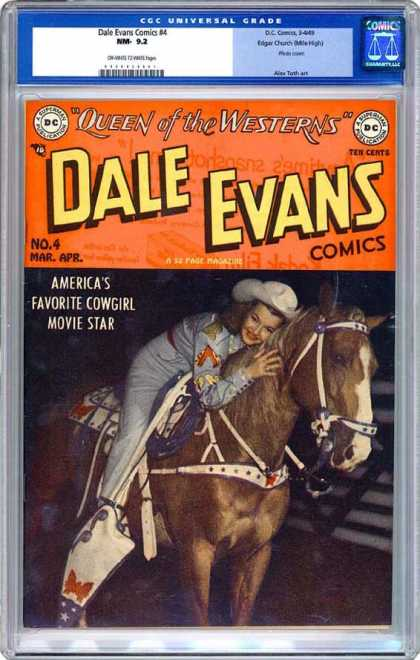 CGC Graded Comics - Dale Evans Comics #4 (CGC) - Horse - Cowgirl - Bridle - Reins - Saddle