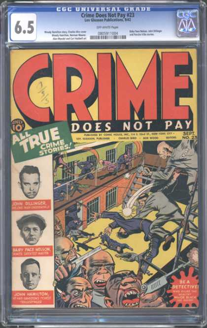 CGC Graded Comics - Crime Does Not Pay #23 (CGC) - Crime Does Not Pay - True Crime Stories - Jail - Convicts - Detective