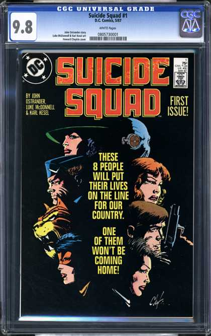 CGC Graded Comics - Suicide Squad #1 (CGC) - Suicide Squad - First Issue - John Ostrander - Luke Mcdonnell - Approved By The Comics Code