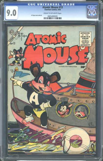 CGC Graded Comics - Atomic Mouse #13 (CGC) - Atomic Mouse - Mouse - No 13 - Atomic - 13