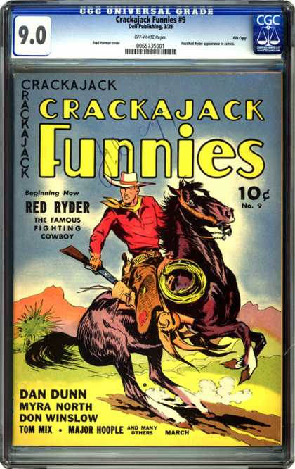 CGC Graded Comics - Crackajack Funnies #9 (CGC) - Red Ryder - Horse - Cowboy - Rifle - Lasso