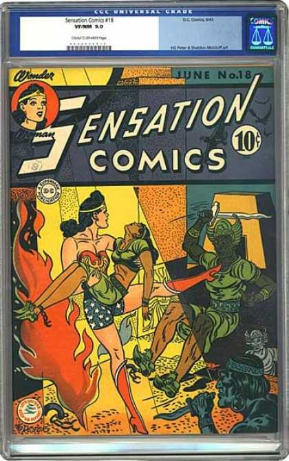 CGC Graded Comics - Sensation Comics #18 (CGC) - Sensation Comics - Comic - June - No 18 - 18