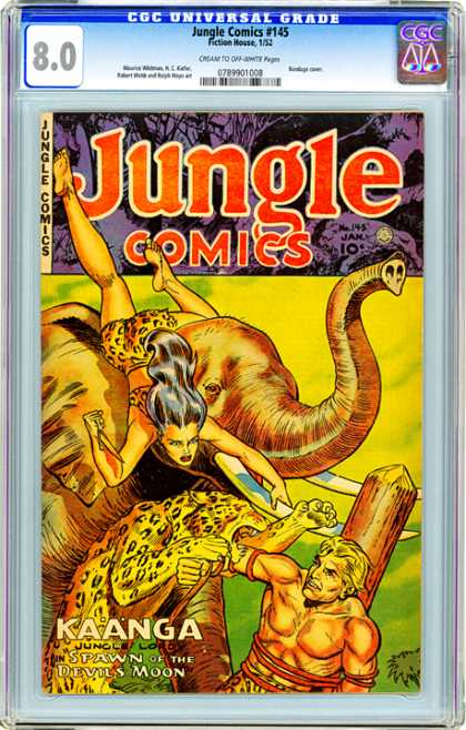 CGC Graded Comics - Jungle Comics #145 (CGC) - Jungle Comics - Number 145 - The Spawn Of The Devils Moon - Kaanga - Junglelord