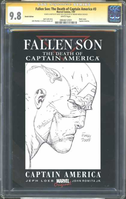 CGC Graded Comics - Fallen Son: The Death of Captain America #3 (CGC) - Fallen Son - The Death Of Captain America - Jeph Loeb - John Romita Jr - Marvel Original