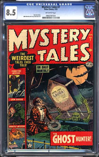 CGC Graded Comics - Mystery Tales #7 (CGC) - Mystery Tales - The Ghost Hunter - The Weirdest Tales Ever Told - Laura - Grim Horror