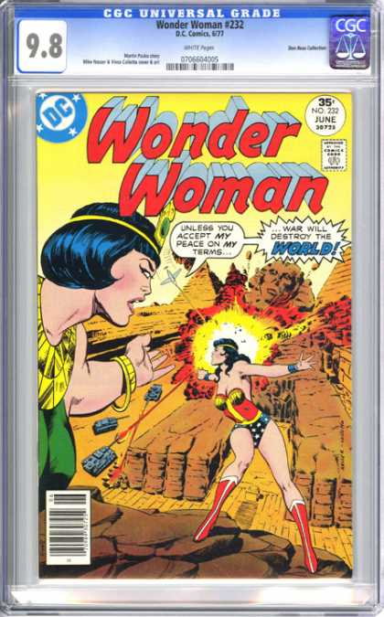 CGC Graded Comics - Wonder Woman #232 (CGC) - Wonder Woman - Dc - World - Destroy - Peace
