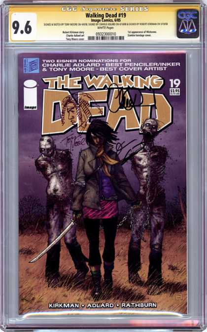 CGC Graded Comics - Walking Dead #19 (CGC) - Man - Hero - Dead - Field - Human