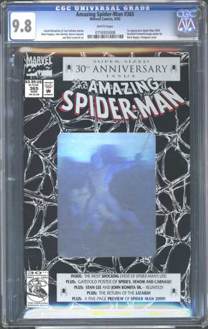 CGC Graded Comics - Amazing Spider-Man #365 (CGC) - Spider Man - 30 Anniversary - Venom And Carnage - 2099 - Hologram