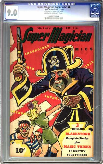 CGC Graded Comics - Super Magician Comics #v3 #6 (CGC) - Vol 3 No 4 - Oct 1944 - Incredible - Comics - 10 Cents