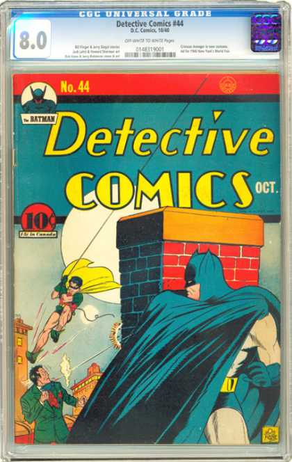 CGC Graded Comics - Detective Comics #44 (CGC) - Batman - Robin - Cape - Rope - Bricks
