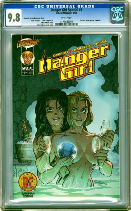 CGC Graded Comics - Danger Girl Special #1 (CGC) - Cliffhanger - Campbell - Hartnell - Adams - European Edition