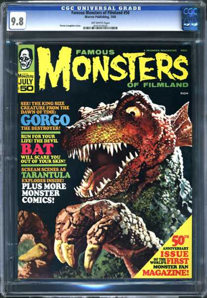CGC Graded Comics - Famous Monsters of Filmland #50 (CGC) - One Animal - Hands - Nails - Eyes - Teeth