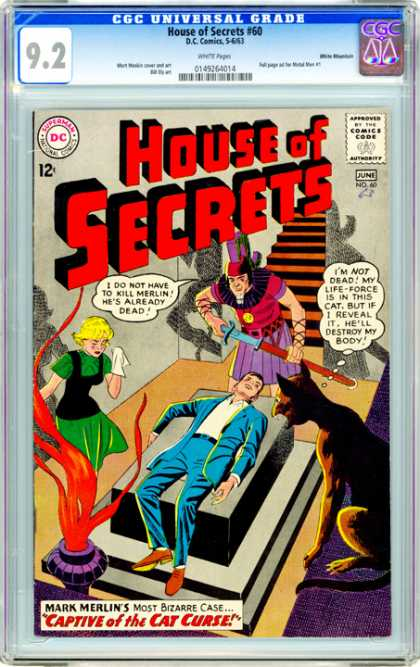 CGC Graded Comics - House of Secrets #60 (CGC)