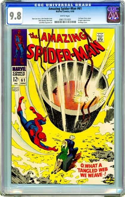 CGC Graded Comics - Amazing Spider-Man #61 (CGC) - Web - Spider-man - Tied Up - Gagged - Rescue