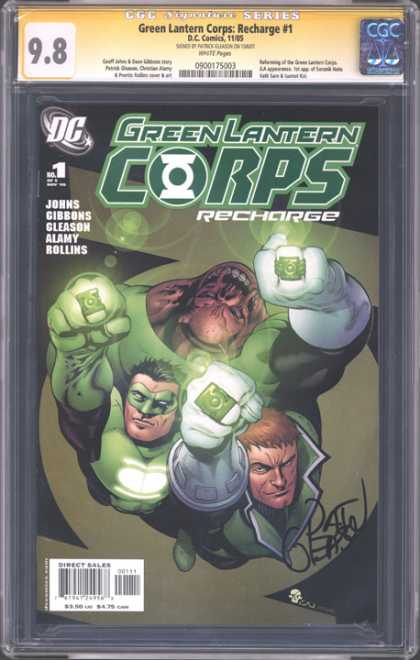 CGC Graded Comics - Green Lantern Corps: Recharge #1 (CGC) - Green Lantern - Recharge - Dc - Rings - Autographed
