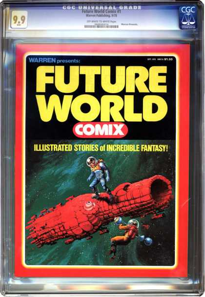 CGC Graded Comics - Future World Comics #1 (CGC) - Illustrated Stories Of Incredible Fantasy - Warren - Space - Galaxies - Stars