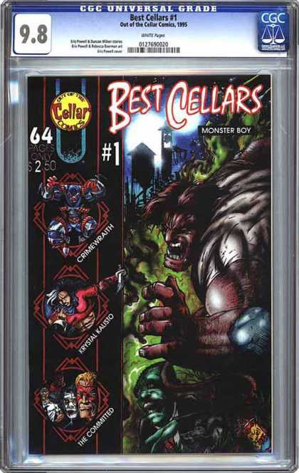 CGC Graded Comics - Best Cellars #1 (CGC) - Monster Boy - Crimewraith - Krystal Kalisto - The Committed - Water Tower