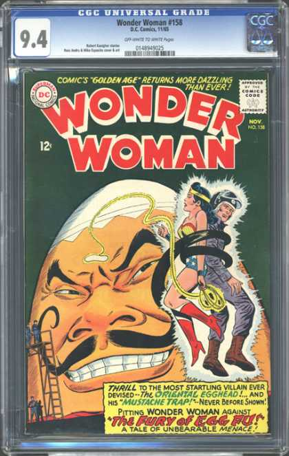CGC Graded Comics - Wonder Woman #158 (CGC) - Dc Comics - Superman - National Comics - Approved By The Comics Code Authority - Wonder Woman