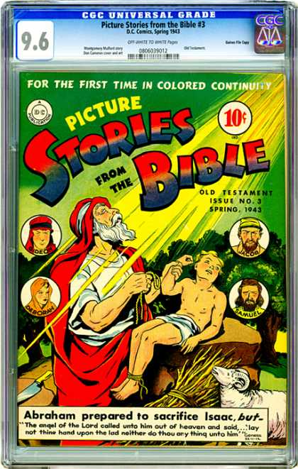 CGC Graded Comics - Picture Stories from the Bible #3 (CGC) - Angel Of The Lord - Sacrifice - Abraham - Jacob - Heaven