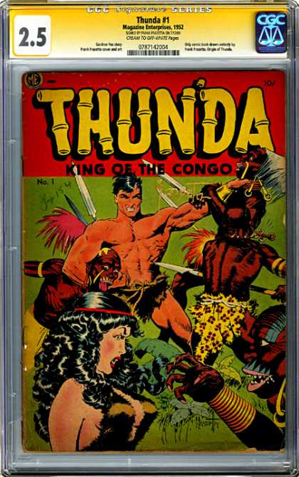 CGC Graded Comics - Thunda #1 (CGC) - Thunda - Congo - King - Natives - Spears