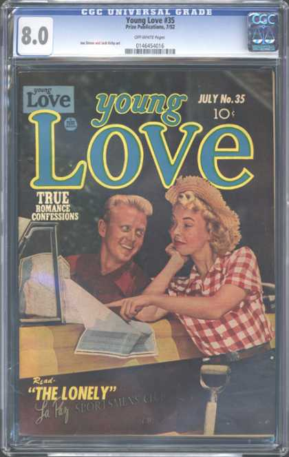 CGC Graded Comics - Young Love #35 (CGC) - Young Love - Price Publications - True Romance Confessions - The Lonely - Map