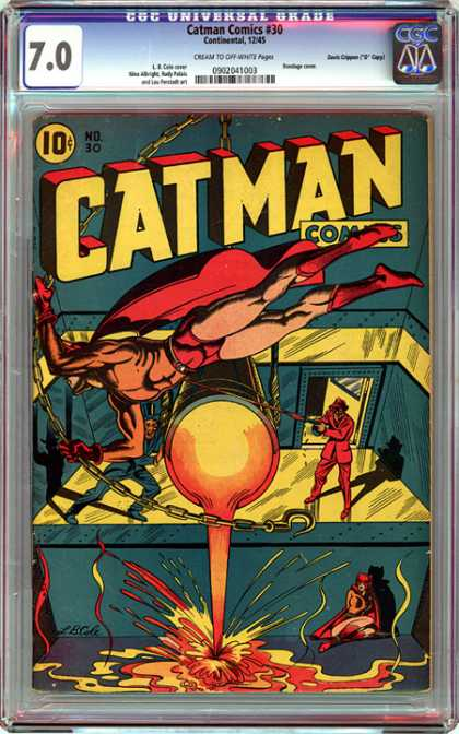 CGC Graded Comics - Catman Comics #30 (CGC) - Catman Comics - Cgc Universal Grade - Cream To Off White Pages - Molten Metal - Catwoman