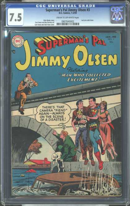CGC Graded Comics - Superman's Pal Jimmy Olsen #3 (CGC) - Photographer - Pictures - Collected - Excitement - Disaster