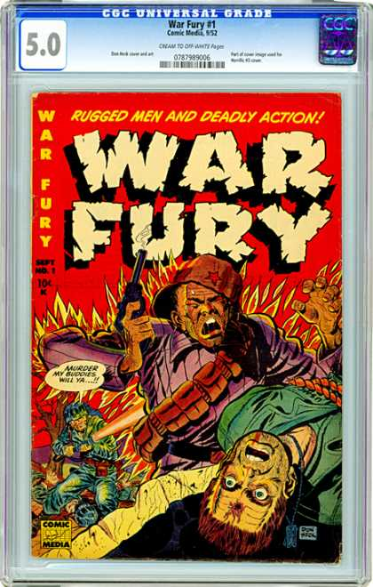 CGC Graded Comics - War Fury #1 (CGC)