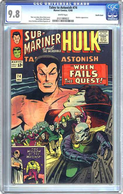 CGC Graded Comics - Tales to Astonish #74 (CGC) - Tales To Astonish - Marvel Comics - Submariner - Incredible - The Wisdom Of The Watcher